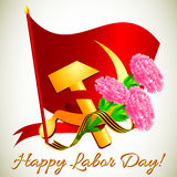 Postcard for holiday of Spring and Labor. Mayday Royalty Free Stock Photo