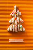 Postcard with the image of a Christmas tree cookie Royalty Free Stock Photo