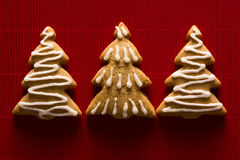 Postcard with the image of a Christmas tree cookie Royalty Free Stock Photography