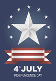 Postcard for Independence Day holiday in America. Royalty Free Stock Image