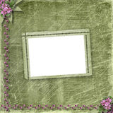 Postcard for invitation with old frame Royalty Free Stock Photos