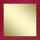 Postcard invitation to the claret background. For anniversary Stock Images