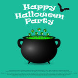 Postcard invitation to the Halloween party Stock Image