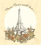 Postcard Journey to Europe Stock Photos