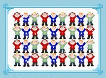 Postcard, kids Royalty Free Stock Images