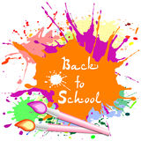 Postcard for Knowledge Day. Back to school illustration Royalty Free Stock Image