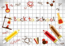Postcard for Knowledge Day. Back to school illustration Royalty Free Stock Photo