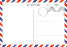 postcard La poste aérienne Illustration de carte postale pour la conception Voyage illustration de vecteur