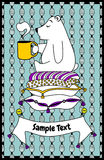 Postcard little bear. Postcard with lovely littele bear Royalty Free Stock Photo