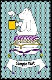 Postcard little bear royalty free illustration