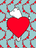 Postcard little bear Royalty Free Stock Images