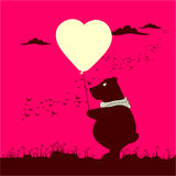 Postcard little bear Stock Image