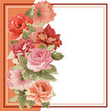 Postcard with luxury bouquet of peonies Royalty Free Stock Photos