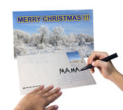 Postcard for mama Royalty Free Stock Images