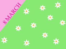 Postcard from 8 March. Royalty Free Stock Photos