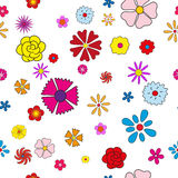 Postcard on 8 March with flowers Royalty Free Stock Images