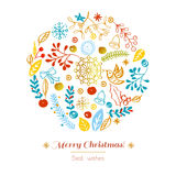 Postcard Merry Christmas Royalty Free Stock Photo