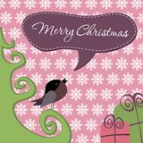 Postcard Merry Christmas. Merry Christmas lettering, vector illustration Stock Photography