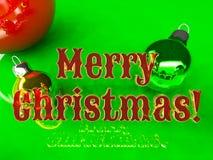 Postcard - Merry Christmas 2016 Royalty Free Stock Photos