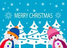 Postcard Merry Christmas Stock Photo