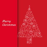 Postcard Merry Christmas Royalty Free Stock Images