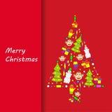 Postcard Merry Christmas Stock Photos