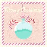 Postcard Merry Christmas Royalty Free Stock Photography