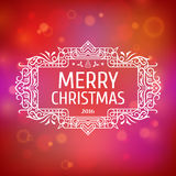 Postcard Merry Christmas 2016 Royalty Free Stock Image