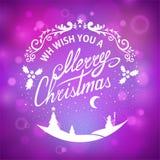 Postcard Merry Christmas Royalty Free Stock Photo