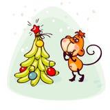 Postcard 2016 monkey Royalty Free Stock Photos