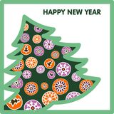 Postcard for the new year Royalty Free Stock Images
