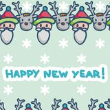 Postcard for new year Stock Images