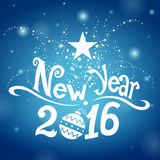 Postcard New Year 2016 Stock Photography