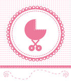 Postcard Newborn Baby. Vector EPS 10. Stock Images