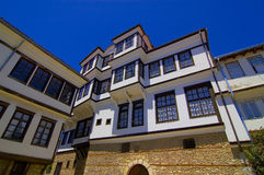 Postcard from Ohrid. With the most famous house of Robevci Stock Photography