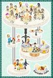The postcard of Pancake Cafe Stock Photo