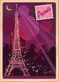 Postcard from Paris. Beautiful and vintage Paris postcard Royalty Free Stock Photos