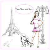 Postcard Paris Stock Photos