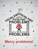 Postcard for the pessimist. Vector format Stock Photos