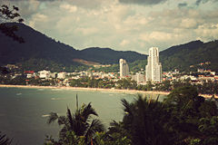 Postcard Phuket Patong Beach Royalty Free Stock Photo