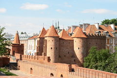 Postcard from Poland. Castle in Old Town, Warsaw Royalty Free Stock Photo