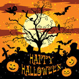 Postcard, poster, background, happy halloween Royalty Free Stock Images