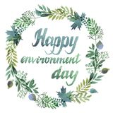 Happy environment day stock illustration