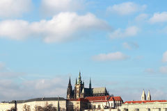 Postcard Prague. St. Vitus Cathedral in Prague Stock Photography