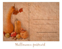 Postcard with pumpkin Royalty Free Stock Photo