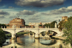 Postcard of Rome Stock Photos