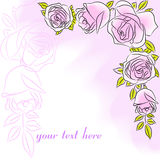 Postcard with  rose 1 Royalty Free Stock Photography