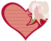 Postcard with rose Royalty Free Stock Photography