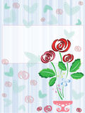 Postcard with roses Royalty Free Stock Photo