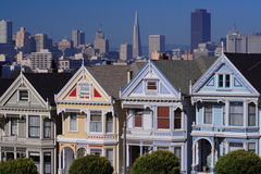 Postcard Row, San Francisco Royalty Free Stock Photography